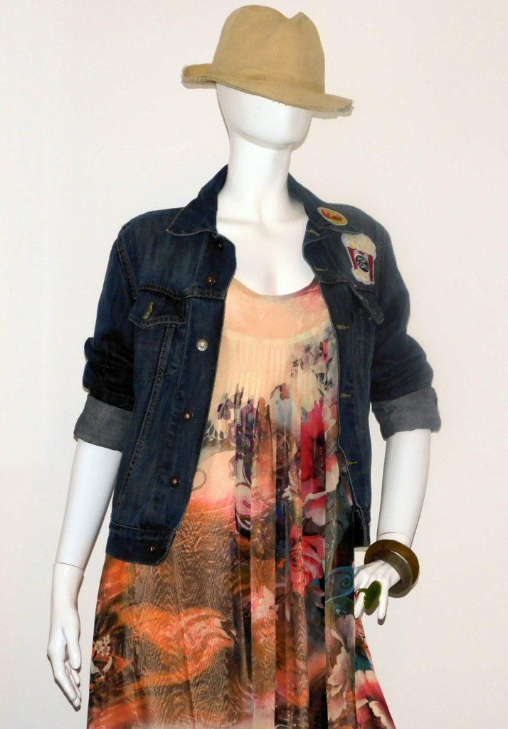 Summer collection - flower maxi silk dress