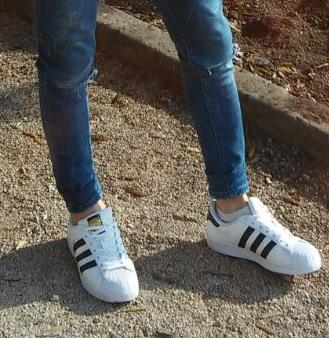 Adidas Superstar - completes the look